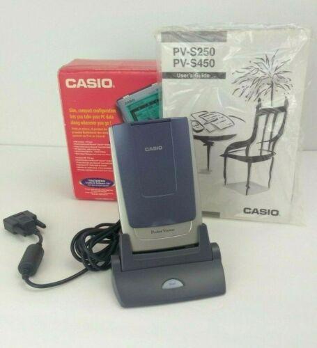 Casio Palm Pilot Pocket Viewer PV-S250 Vintage Complete Stylus Manual