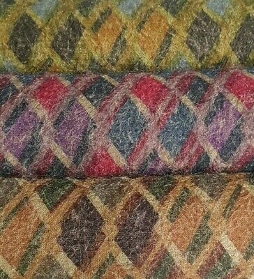 3 COLOURS - PRINTED AND HAIRY EFFECT KNIT FABRIC - SOLD BY THE METER