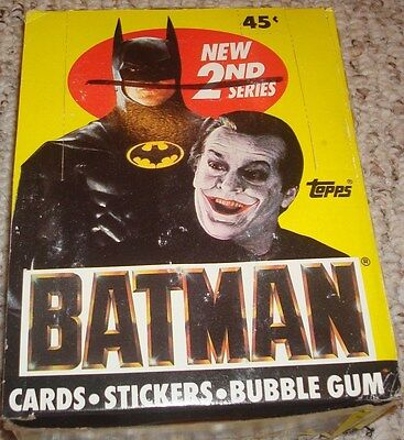 TOPPS BATMAN Trading Cards Box 2nd Series 1989 (36 packs/box)