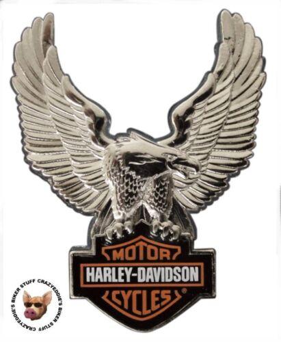 HARLEY DAVIDSON UPWING EAGLE VEST PIN BAR AND SHIELD PATRIOTIC MOTORCYCLE JACKET