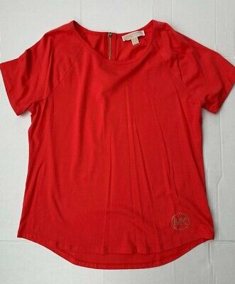 NWT Michael Kors Basics T-shirt shirt coral reef women cotton $69.5