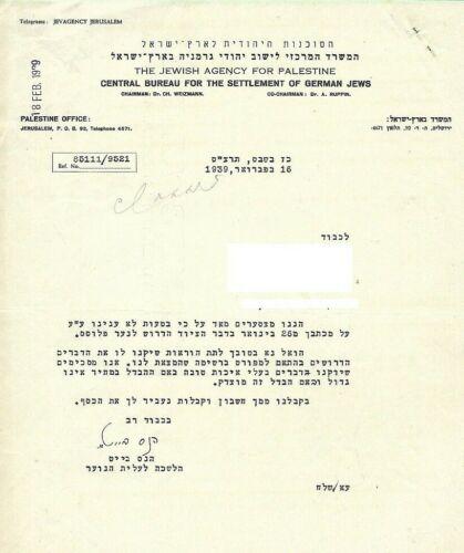 PALESTINE ORIGINAL DOCUMENT  ,1939