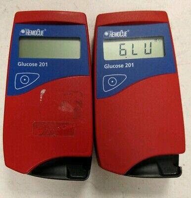 2x Hemocue Glucose 201 Hemoglobin Blood System Analyzer