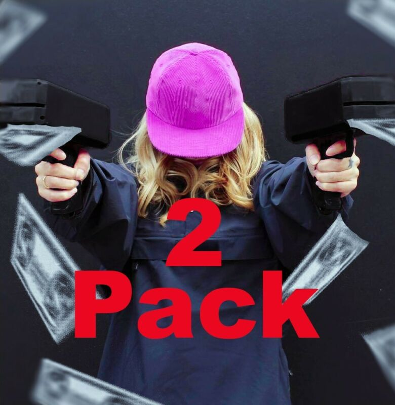 2 Pack of Cash Cannons! Double Money Guns! Twice the Party!