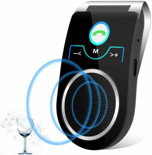 T825 Bluetooth Car Speakers, Wireless in-car Speakerphone with Clear and Loud So