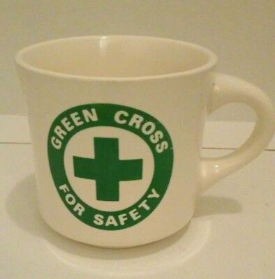 GREEN CROSS FOR SAFETY Promotional Award Mug White Advertising Coffee Cup