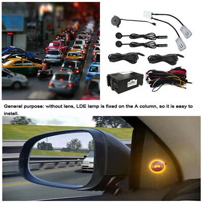 Universal Car Mirror Blind Spot Monitoring System Ultrasonic Sensor Assistant