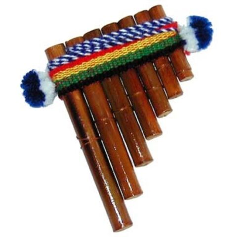 "6 Pack Lot Wind Peru Premium Design Casual Musical Instrument Andes 5"" Pan Flute"