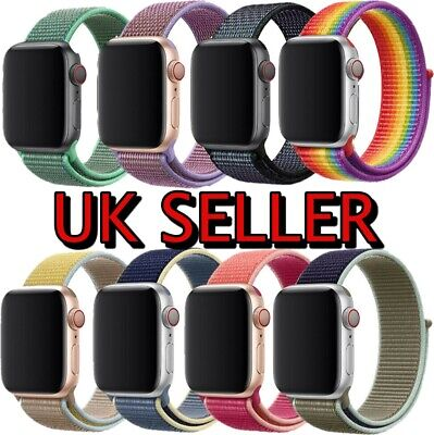 Nylon Woven Strap For Apple Watch iWatch Series1/2/3/4/5 38-44mm Sport Loop Band