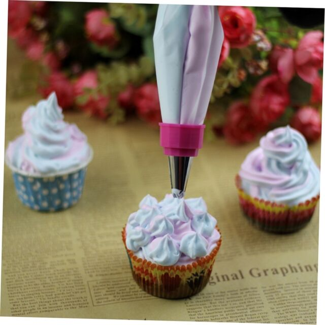 Two Color Piping Icing Bag Cake Cookie Cupcake Decorating Nozzles Tool Set G#