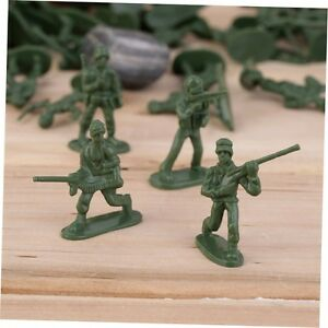 100pcs/Pack Military Plastic Toy Soldiers Army Men Figures 12 Poses Gift GU