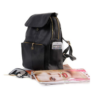 Women Korean Style PU Leather Backpack Shoulder School Bag Trend Of College XP