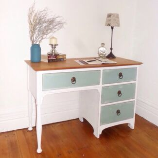 Solid wood beach shabby chic desk dresser drawers  Cremorne North Sydney Area Preview