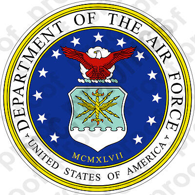 - STICKER USAF Department of the Air Force Seal