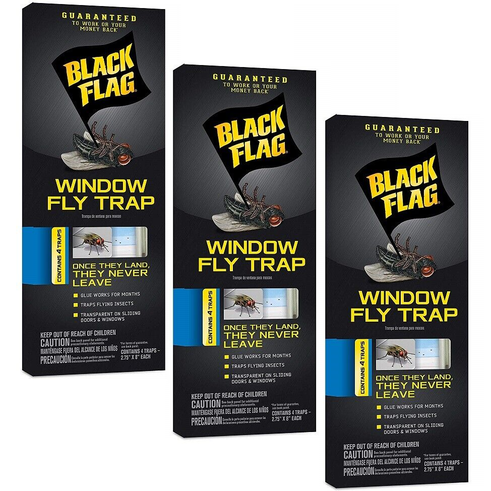 Black Flag HG-11018 Window Fly Trap, Pack of 1, Brown/A