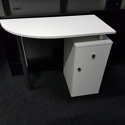 WHITE Manicure Technicians Table Station Nail Bar ,NEW ,FREE DELIVERY