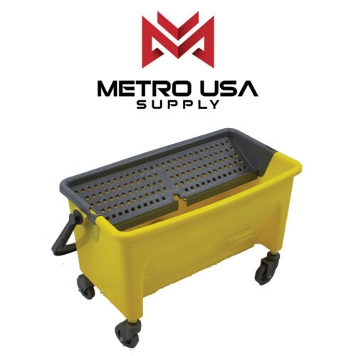 [PREMIUM] Commercial 44 Qt. Flat Microfiber Mop Bucket , No-Touch