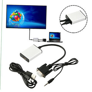 VGA To HDMI Adapter Output 1080P HD And USB Audio HDTV Video Cable Converter ZA