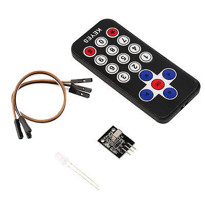 New Infrared IR Wireless Remote Control Receiver Module Kit for Arduino JK