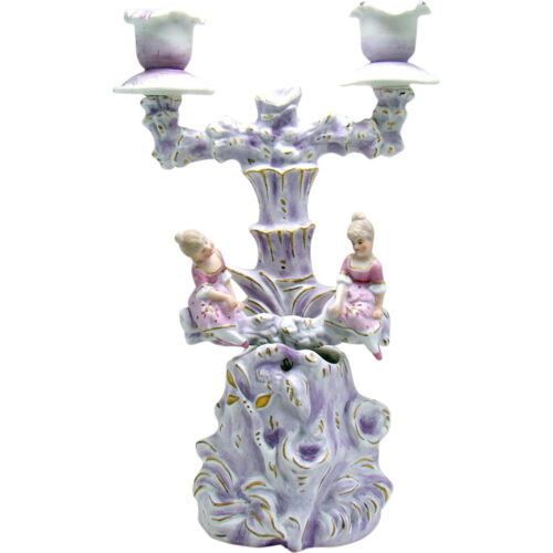 Bisque Candle Holder with Rocking Mechanism - 1930