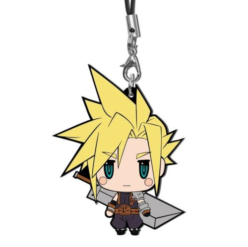 Square Enix Final Fantasy Trading Rubber Strap FF VII EDITION Charm Cloud Strife