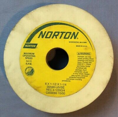 "NEW NORTON  38A60-LVBE  WHITE GRINDING WHEEL 2/"" DIAMETER 1-1//2/"" WIDE"