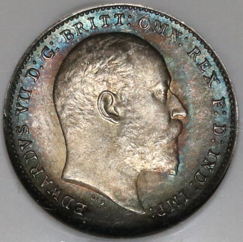 1905 NGC MS 65 Edward VII 3 Pence Great Britain Silver Coin (20042302C)