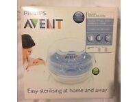 New Philips AVENT microwave steriliser in box.