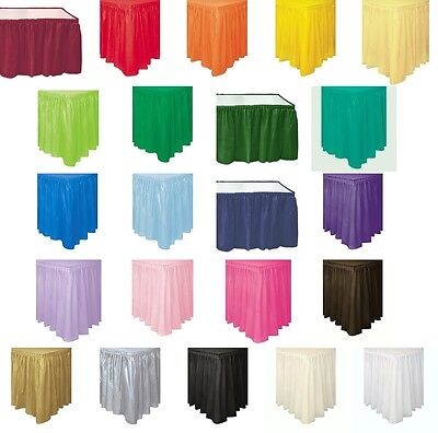 Disposable Table Skirts (Self Adhesive Pleated Plastic Table Skirts 29