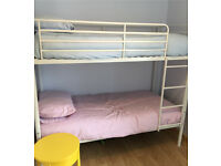 Kids white bunk bed
