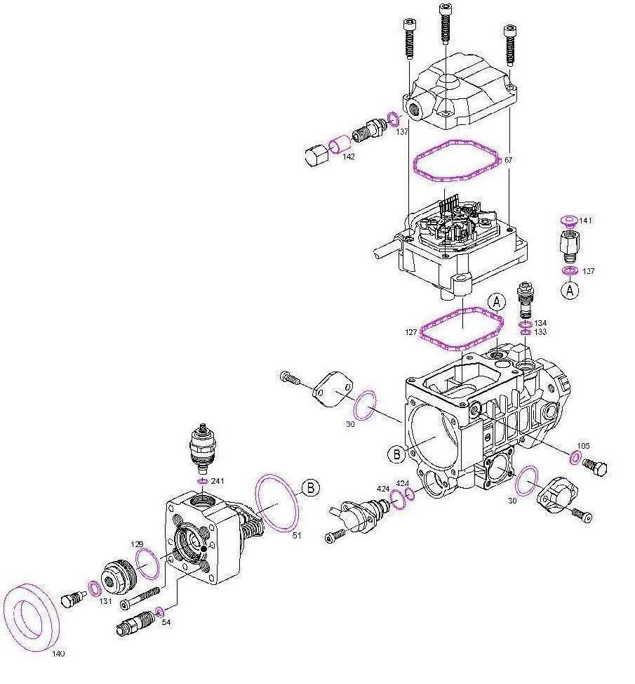 kit joints pompe injection bosch audi bmw opel vw renault golf eur 11 50 picclick fr. Black Bedroom Furniture Sets. Home Design Ideas