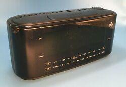 GE 7-4852A Large Display Radio Dual Alarm Clock AM/FM Great Condition
