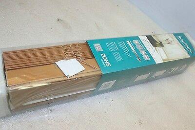 Zone Hardware PVC (Teak) Long Island 50mm Eco Venetian Blinds 60 x 120cm - NEW