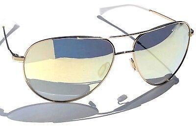 NEW* NIKE Vintage 82 AVIATOR Gold White Flash Gold mirror Sunglass EVO634 (Cheap White Sunglasses)