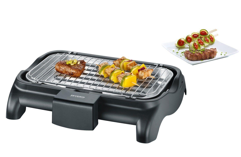 SEVERIN Barbecue-Grill Elektrogrill BBQ Tischgrill E-Grill 37 x 23 cm 2300W TOP
