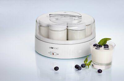Clatronic JM 3344 Yogurtera, 1.1 litros, 7 tarros, color blanco, 14 W,...
