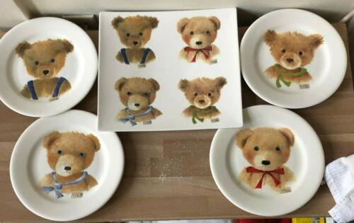 GIEN Ours Teddy Bear Boy Design 4 Plates + Rectangular Platter