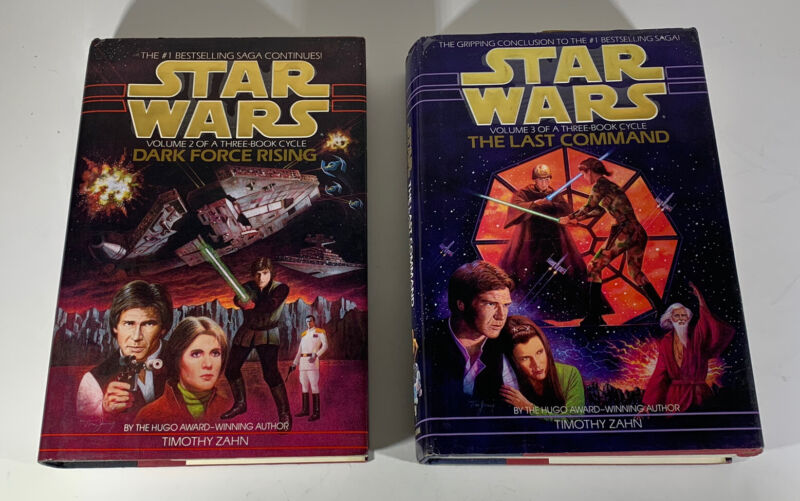 STAR WARS VOLUMES 2 & 3 OF THE THREE BOOK CYCLE TIMOTHY ZAHN HARDCOVER LOT