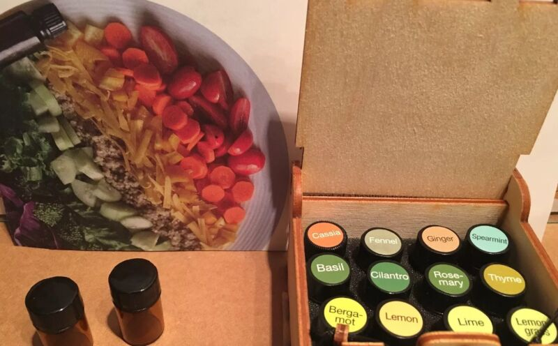 100% PURE Organic 12 Essential Oils Cooking Collection ~ Free Case ~