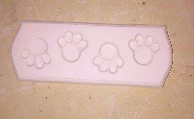 -  New Paw Prints  Jewelry Cab Glass Frit Fusing Casting Kiln Mold
