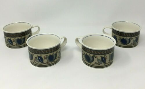 Mikasa Intaglio Arabella Cups Tea Coffee Mugs - Set of 4