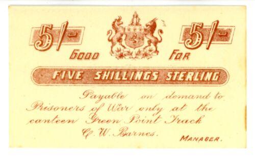 South Africa ... #48310 ... 5 Shillings ... ND(1899-1902) *UNC* Boer War/POW