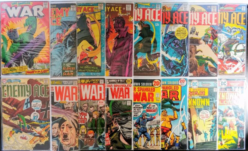 Star Spangled War Stories 16 Book Silver Age Lot! Enemy Ace! Unknown Soldier! DC