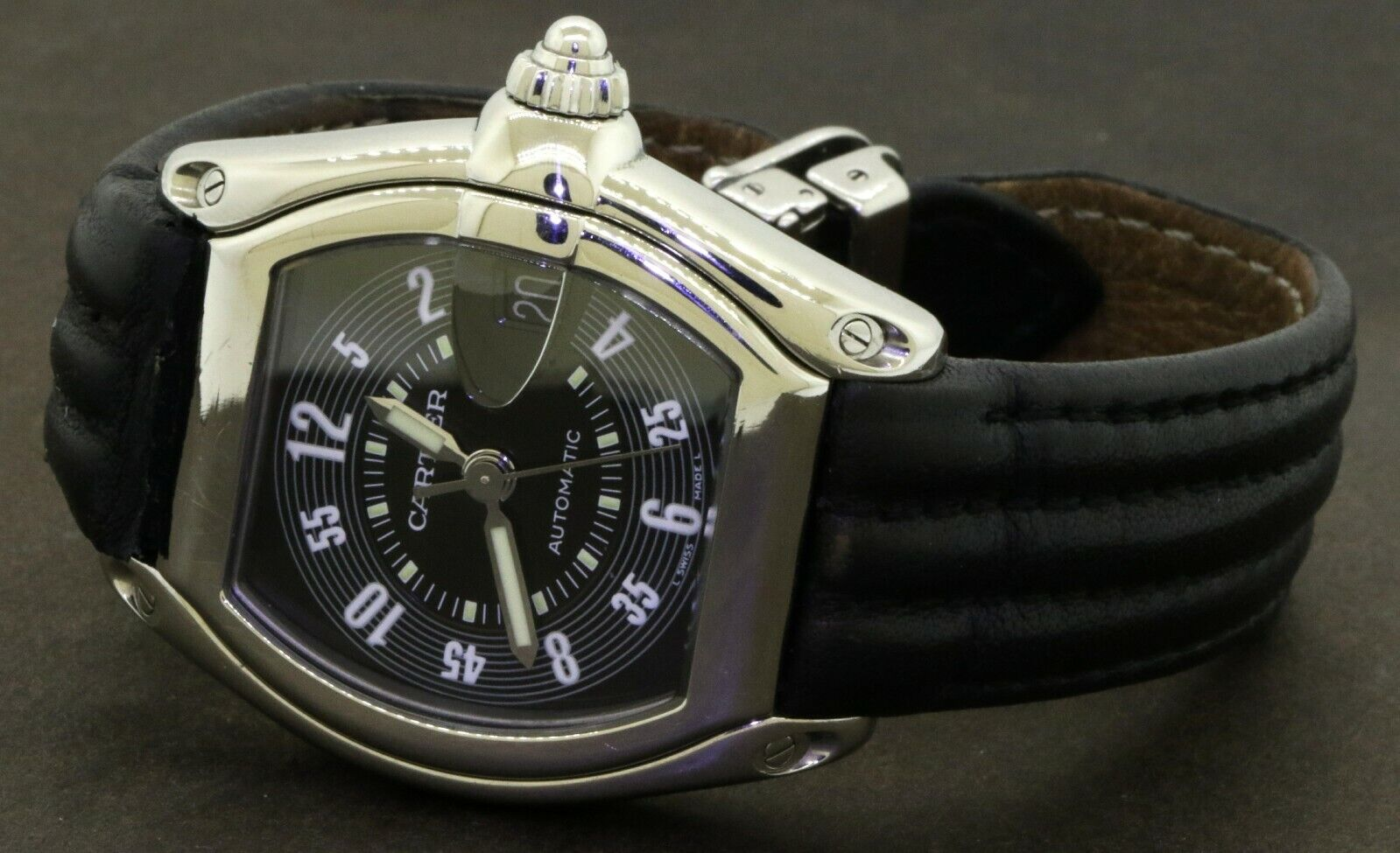 Cartier Roadster 2510 automatic SS high fashion men's watch - watch picture 1