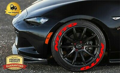 NITTO RED Stickers permanent Tire Lettering Wheels 14 24 Decal Letters 125