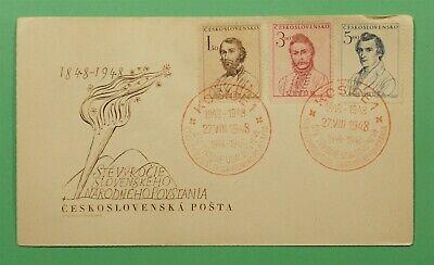 DR WHO 1948 CZECHOSLOVAKIA FDC 1848 HUNGARY INSURRECTION CENTENARY C241219