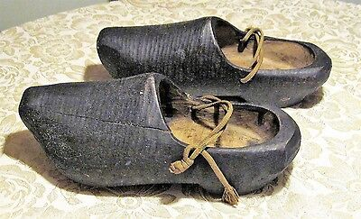 Authentic Vintage Wooden Shoes from Holland