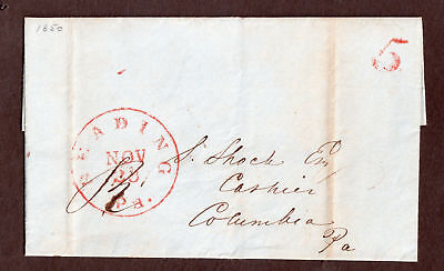 Usa  Cover  Letter   Reading Pa  Colombia Pa  Postmarked Nov 29