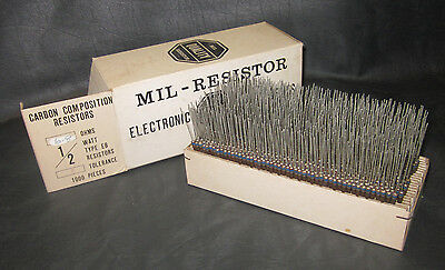 Mil Spec Box Of 12w Watt Carbon Comp 5 Resistors 6.8 Ohm 1000 Pieces