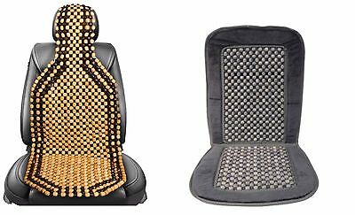 Universal Wooden Beaded Back Massage Car Seat Covers  Office Chair Taxi Van